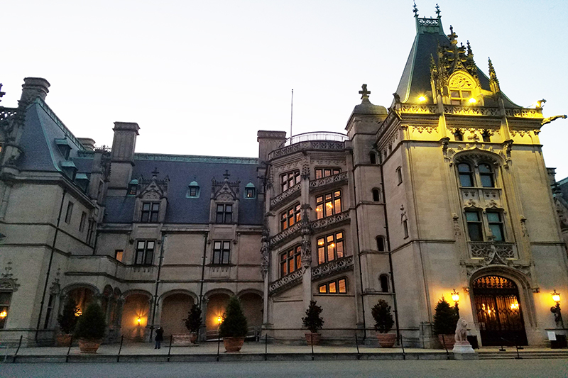 A close-up of the entrance to the Biltmore House en route to the staging area for Overland Expo. Photo by Anthony Sicola.