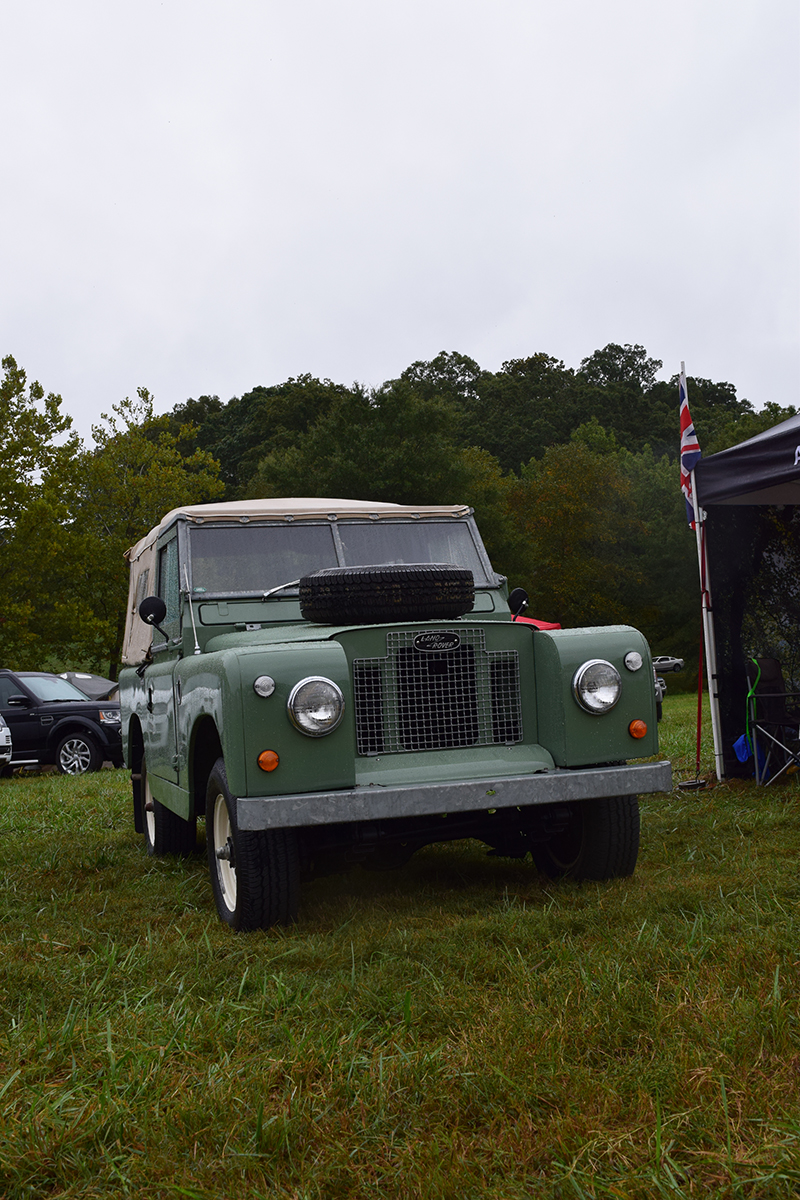 A class Series Land Rover on display at the Land Rover Asheville booth.