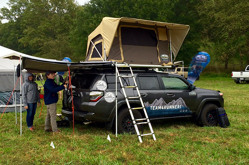 Team4Runner proudly exhibiting a roof top tent from Freespirit Recreation.