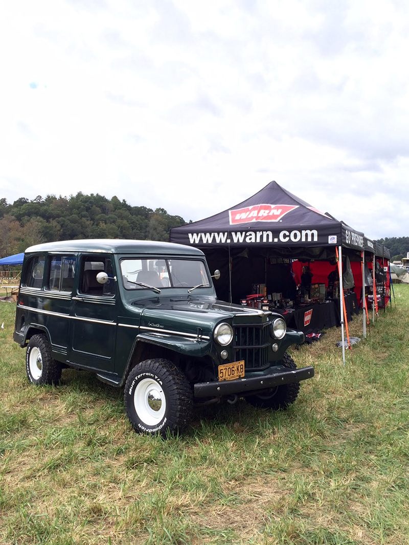 This Willys Wagon at the WARN booth was one of the most pristine and coolest vehicles at the event.