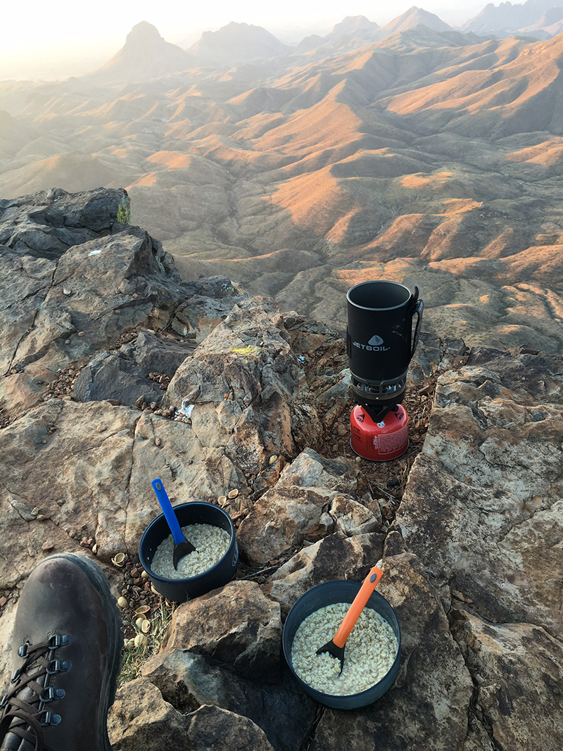 Jetboil at Big Bend