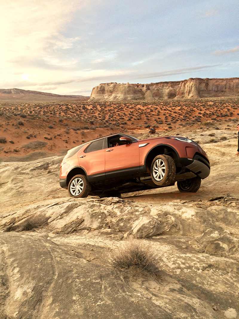 Testing the all-new Discovery's Terrain Response 2 system in rock crawl mode. To say it works and works nicely is an understatement.