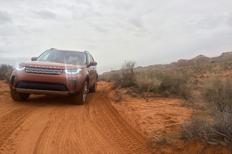 Land Rover's all-new Discovery while on the global media launch in southern Utah.