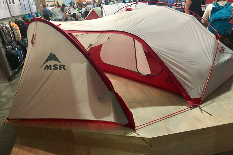 In the spring of 2018, MSR is launching a new tent designed with bike-packers in mind. The Huba Tour 2 provides room for two people and features an oversized vestibule with room for bikes and other gear.