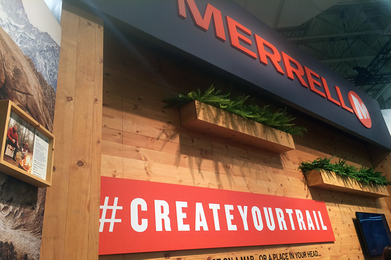 Merrell's new hashtag #createyourtrail to inspire folks to get outdoors