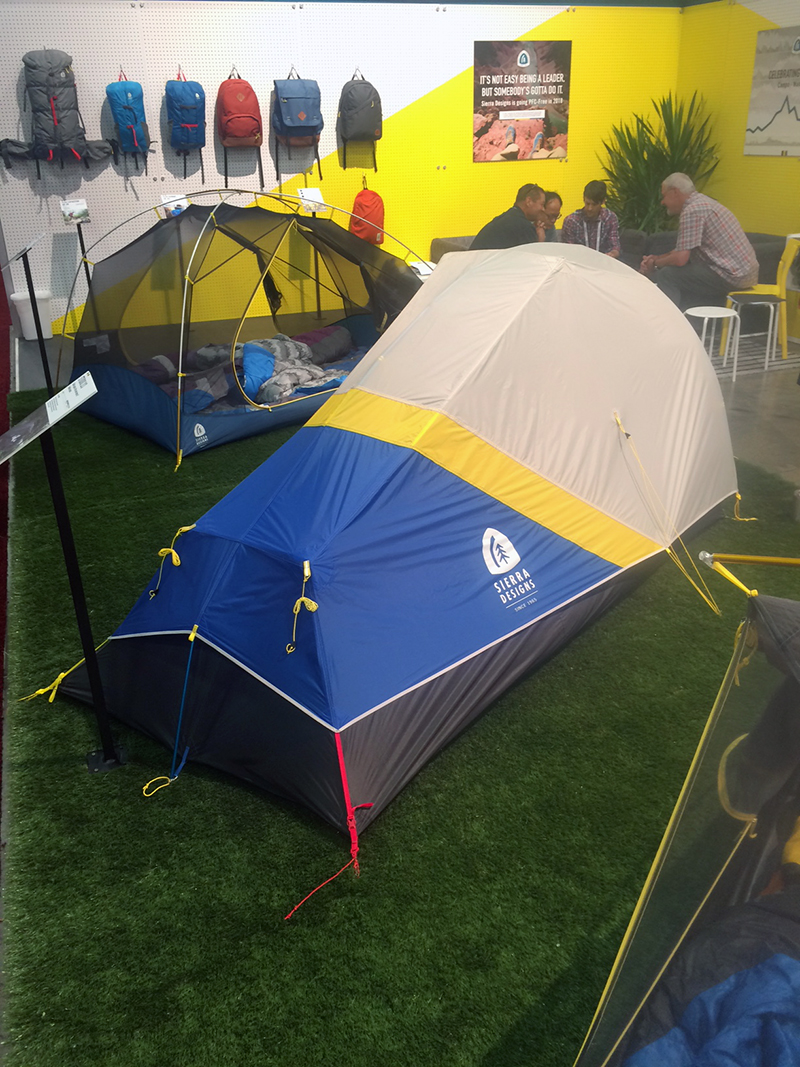 One of several nice appointed 2 & 3-person tents soon available from Sierra Designs.