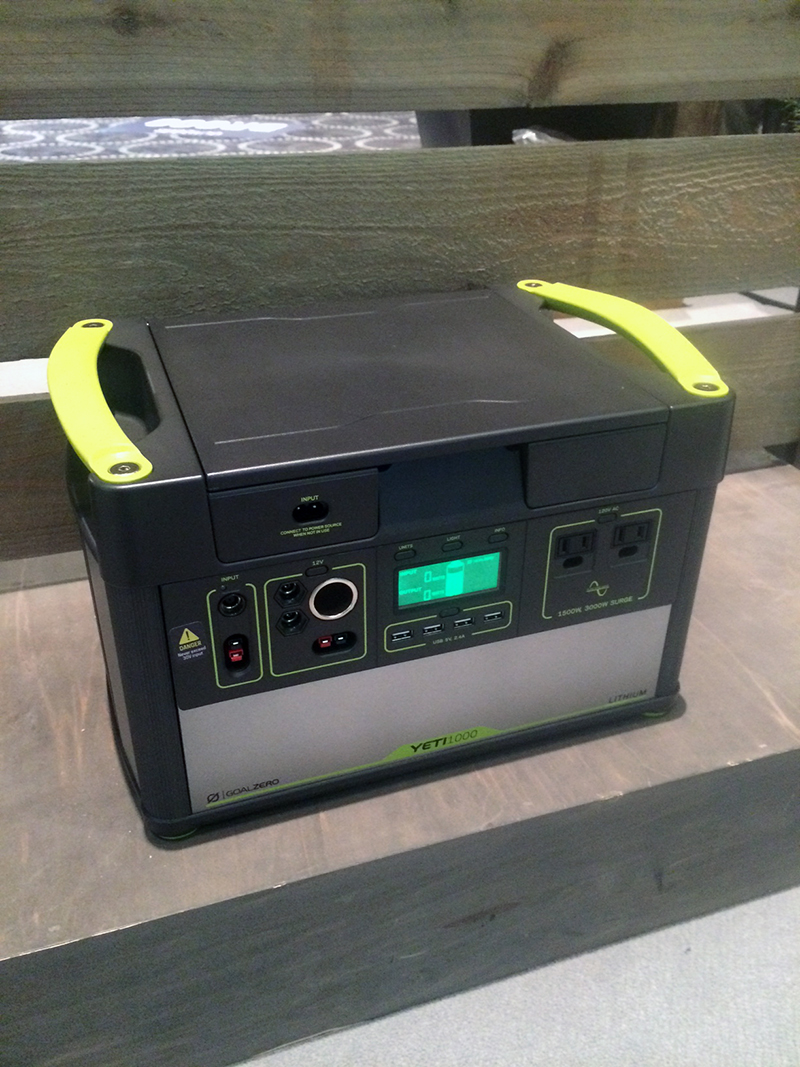 Goal Zero's Yeti 1000 power generator is an impressive unit to keep virtually anything used at basecamp powered up and ready to go.