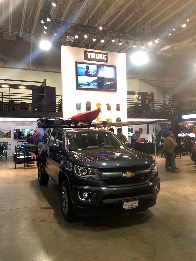 Thule is making an effort to attract the overland market with rack systems to accommodate a variety of outdoors adventures including paddling and biking.
