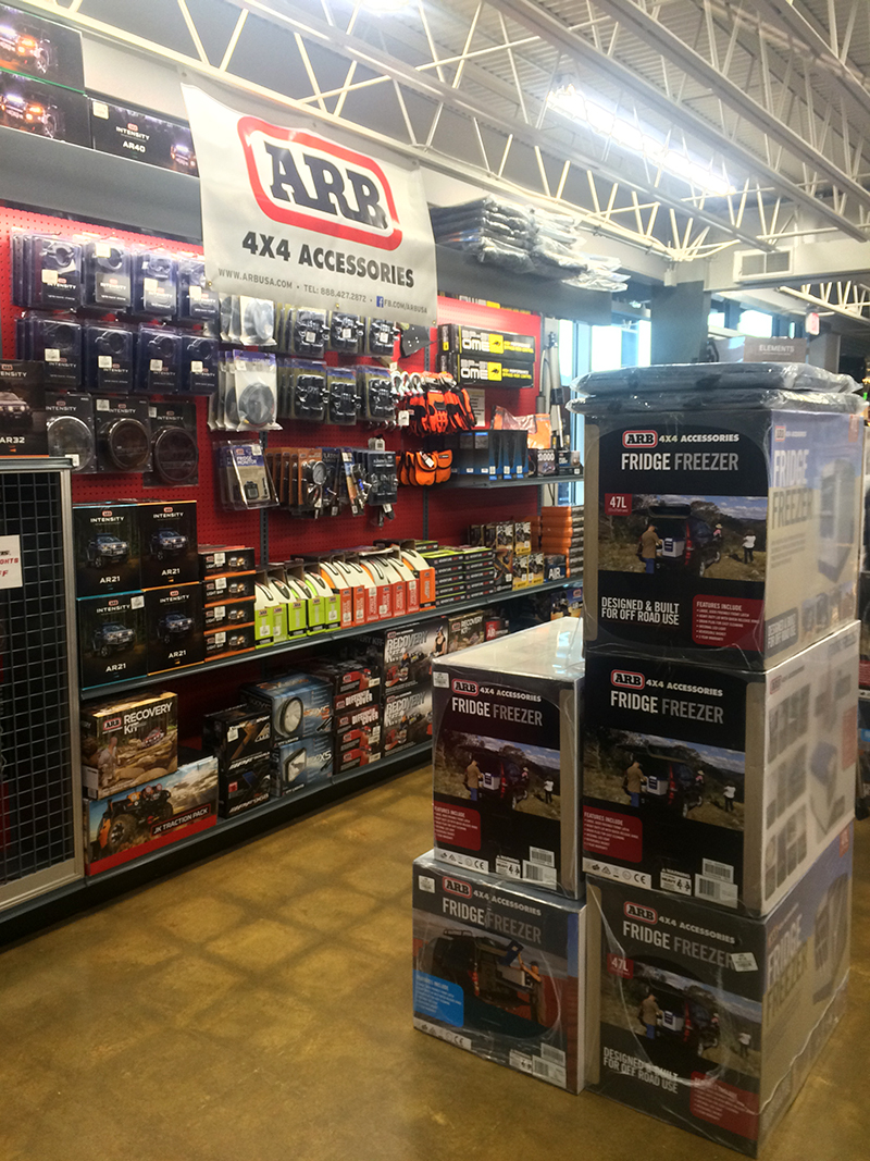 ARB products are fully-stocked for any vehicle-supported adventure.