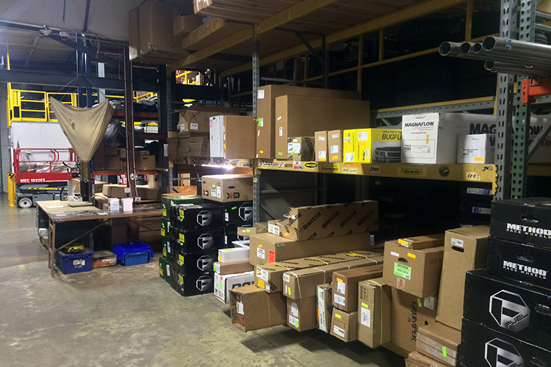 OK4WD & Tire's warehouse is fully-stocked with their order processing station ready to fulfill any online orders worldwide.